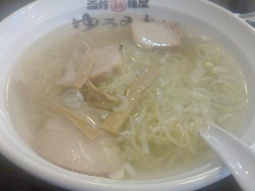 「塩ラーメン、半チャーハンセット」@函館麺屋 ゆうみんの写真