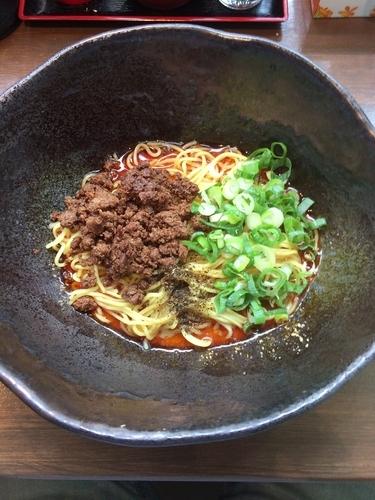 「汁なし担々麺(並)辛さ3」@汁なし担担麺 階杉 周南店の写真