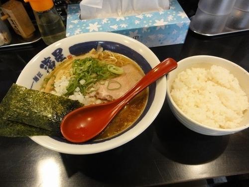 「朝ラーメン 500円 +無料ライス」@麺匠 濱星 溝の口店の写真