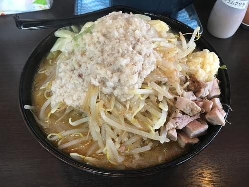 「スタ味噌 大盛 野菜大 脂増し」@麺匠 真武咲弥 松本店の写真