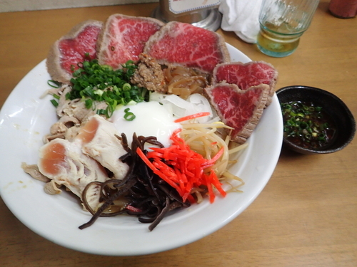 「真夏の一杯 肉しゃぶ冷中C」@MENYA 食い味の道有楽の写真
