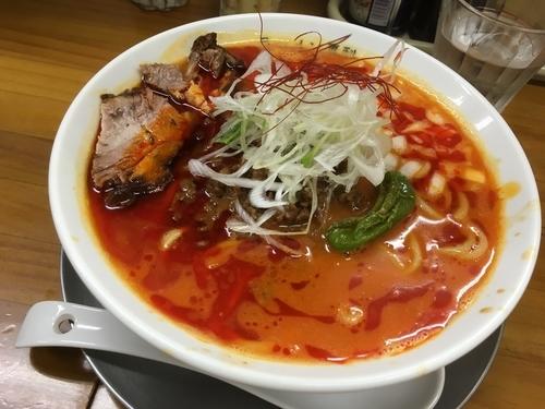 「8月夜限定麺  炎帝」@ラーメン専科 竹末食堂の写真