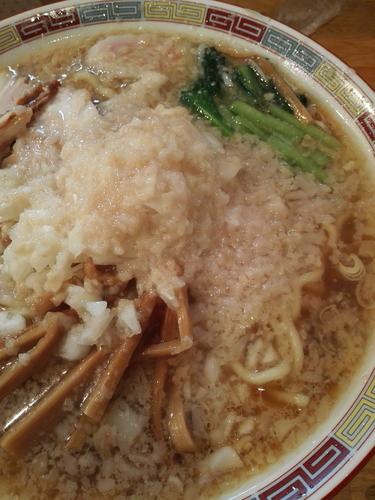 「中華大盛 大油 玉ねぎ大 麺かため」@大むら食堂の写真