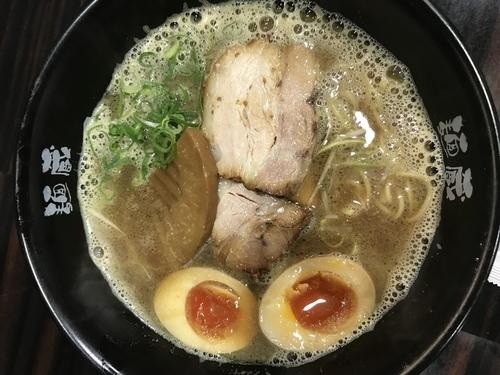 「魚介合わせ醤油ラーメン+煮玉子半分」@麺蔵 ひの屋の写真