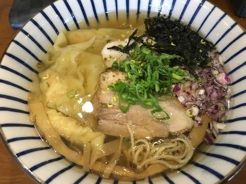 「ワンタン山椒塩中華そば」@麺喰屋 澤 徳島店の写真
