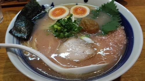 「【期間限定】梅鶏そば750円」@麺屋 鶏口の写真