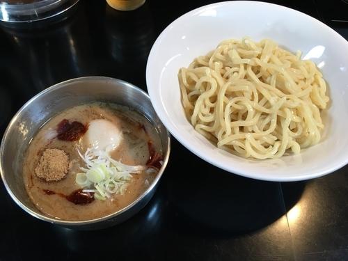 「濃厚つけ麺(辛)+煮玉子+小ライス(サービス)」@フジヤマ55 KOFUバイパス店の写真