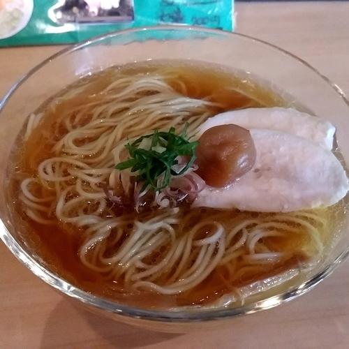 「【限定】煮干と鶏節の冷やしらーめん」@そらみちの写真