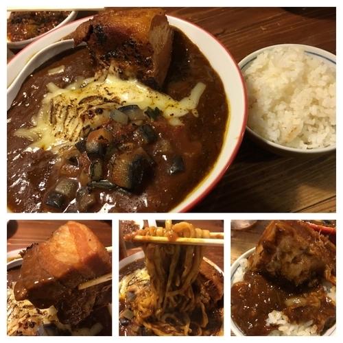 「限定TV ドロリンチョデミグラスカレー麺 ライス付き 950円」@麺 酒 やまのの写真