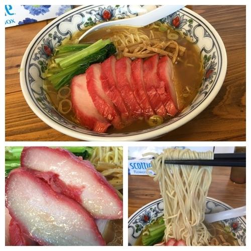 「貝そばチャーシュー 薄口 1050円」@まるえ食堂の写真