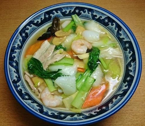 「五目湯麺 780円」@晴々飯店の写真