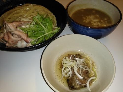 「(夏季限定)煮干しつけ麺¥800+(当日限定)ゆでたん¥10」@濃厚道場 幸手本部の写真