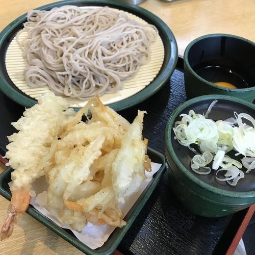 「もりたま(¥330)※+海老天(クーポン)」@ゆで太郎 高輪店の写真