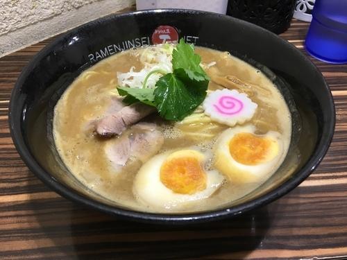 「鶏煮込みそば780」@ラーメン人生 JET 福島本店の写真