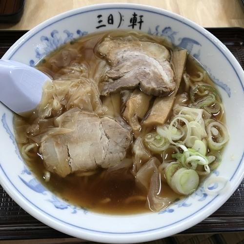 「ふわとろワンタンメン(小)(¥650)」@三日月軒 東中の口店の写真