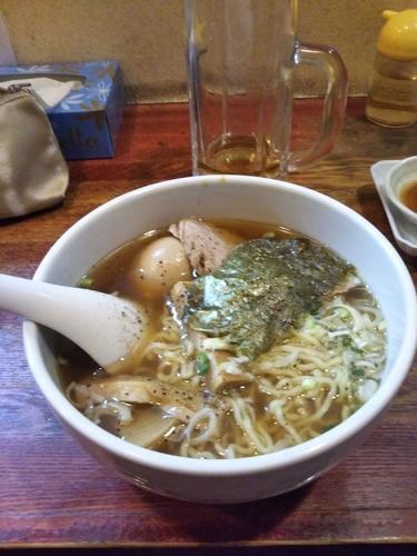 「醤油ラーメン✕味玉トッピング」@ひなたやの写真
