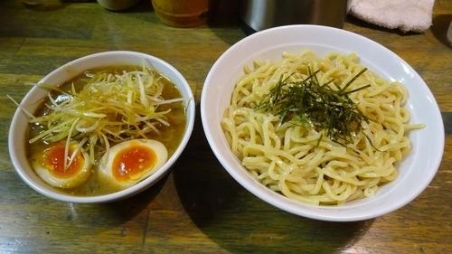 「ねぎつけ麺大盛り(1,050円)+味付け玉子(100円)」@藍華の写真