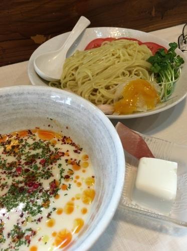 「【期間・数量限定】冷製豆乳つけ麺 900円」@桜台らぁ麺 美志満の写真