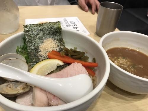 「鶏と蛤の濃厚つけ麺」@むぎとオリーブ 日本橋店の写真