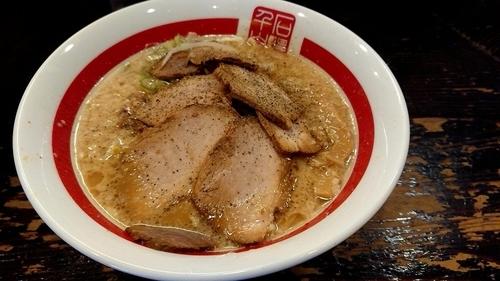 「豚そば太麺」@千石自慢ラーメン 本店の写真