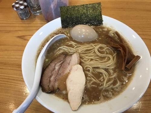 「濃口中華そば+味玉クーポンサービス850円」@下町中華そば すずめ食堂の写真