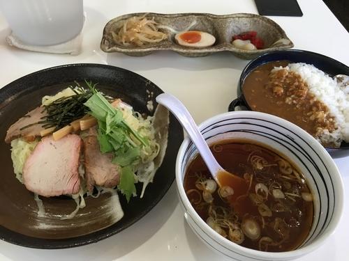 「つけ麺+ランチセット」@手打ち中華そば 凌駕の写真