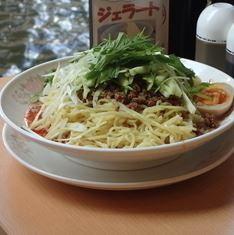 「冷し担々麺880円+特盛200円(辛さレベル3)」@中華四川料理 飛鳥の写真