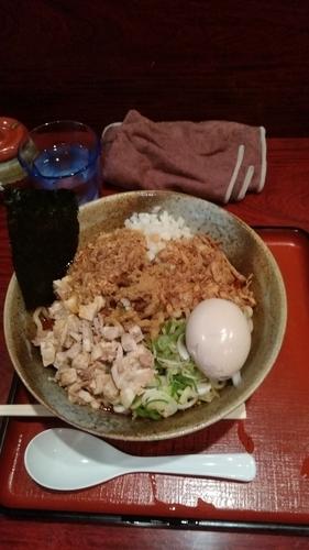 「まぜそばⅡ(渓麺)+味玉」@食処 渓の写真