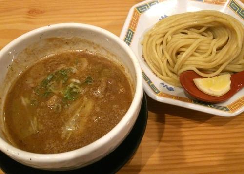 「牛モツつけ麺(ハーフ) 770円」@蔵木 松山店の写真