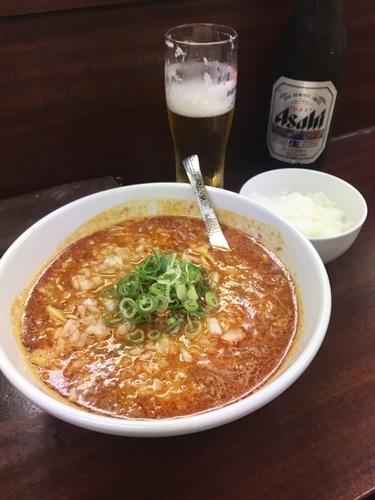 「担々麺850円 中辛 ライス付き」@麺屋 民のかまどの写真