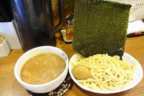 「バカつけ麺800円+玉子(サービス券で無料)」@麺バカ息子の写真