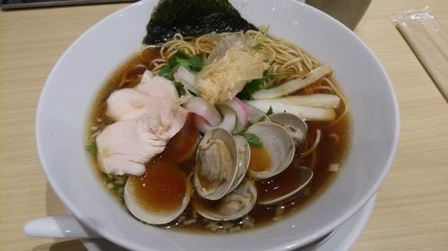 「鶏と煮干と蛤のトリプルSOBA」@むぎとオリーブ 日本橋店の写真