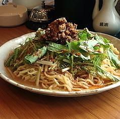 「坦々風冷麺700円+大盛100円+ザーサイ280円」@林華飯店の写真