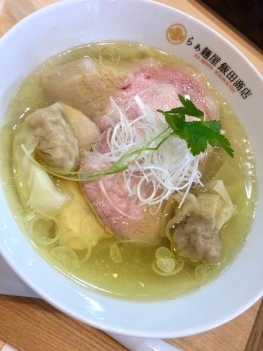 「わんたん入り塩らぁ麺 ¥1150」@らぁ麺 飯田商店の写真