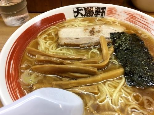 「ラーメン 細麺 カタメ」@中野大勝軒の写真