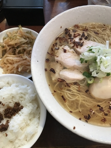 「塩、ライスサービス」@中華麺酒家 彩華の写真