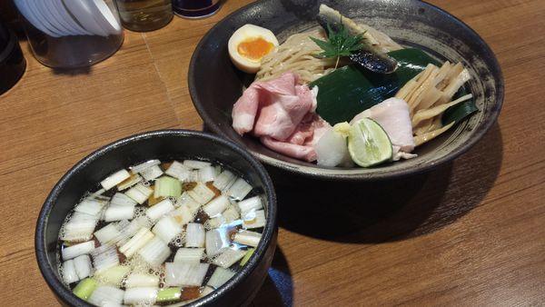 「【限定】秋刀魚のつけそば880円大盛り100円」@寿製麺よしかわ 川越店の写真