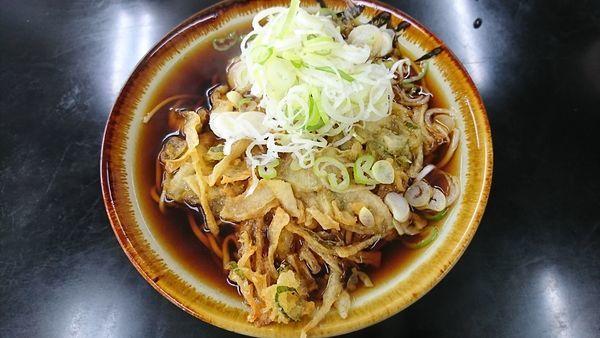 「天ぷらそば 400円」@立食い 寒川そばの写真