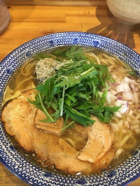 「飛魚濃いめそば¥880(税込)」@必死のパッチ製麺所の写真