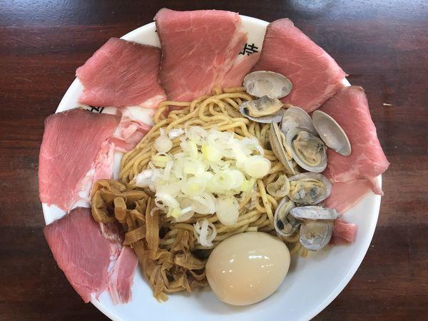 「世麺(セカメン)貝・1.5玉/チャーシュー増し(3ライン達成サー」@世界が麺で満ちる時の写真