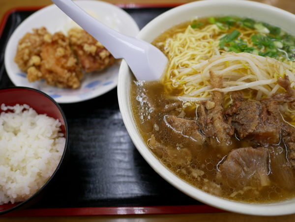 「からあげセット スジラーメン 大盛+麺硬め」@ラーメン いのよしの写真