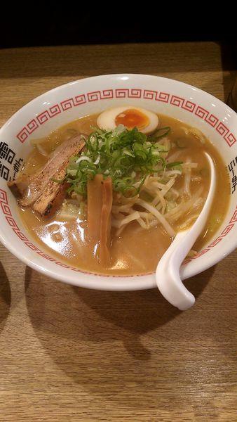 「濃厚味噌らーめん(750円)・餃子セット(250円)」@雷雷らーめん 四谷店の写真
