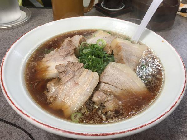 「デラックス大盛り麺固め」@元祖 第一旭 桂店の写真