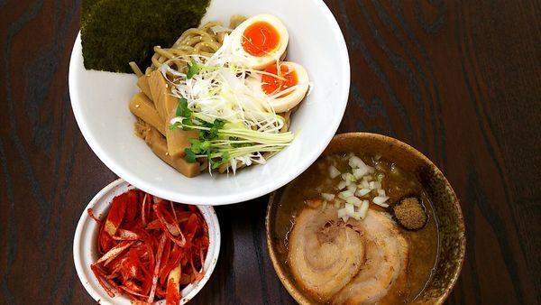 「特製カレーつけ麺(並) 辛ネギ」@麺屋みつば+クローバーの写真