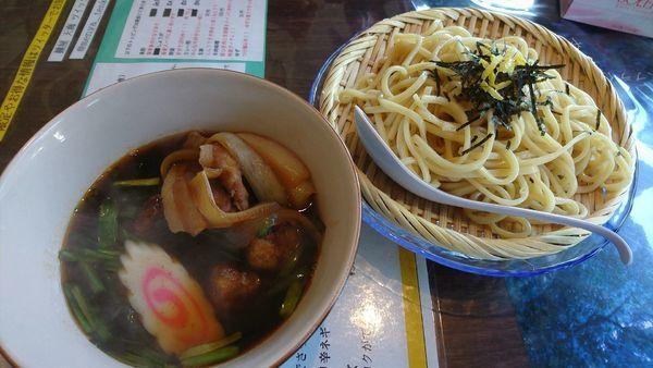 「【限定】レバニラつけ麺 900円」@麺屋 天海の写真