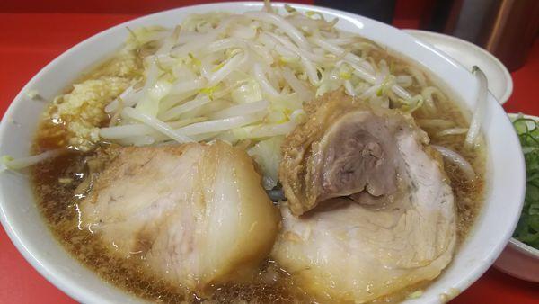 「ラーメン(にんにく)¥730+九条ネギ¥100」@ラーメン二郎 京都店の写真