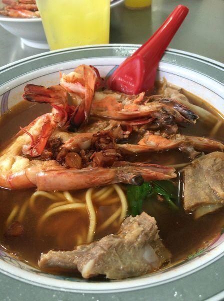 「大虾排骨麺汤 S$10」@惹蘭蘇丹蝦麺 Jalan Sultan Prawn Meeの写真
