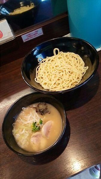 「鶏塩つけ麺(中盛)620円」@らーめん 玉彦の写真