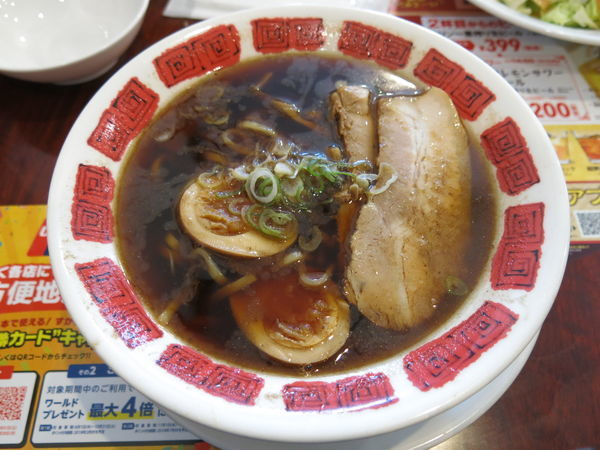 「富山ブラックラーメン(期間限定):699円+消費税」@バーミヤン 足立保塚店の写真