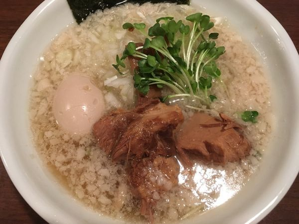 「【限定】豚清湯背脂塩 700円」@らーめん 和なり えんの写真